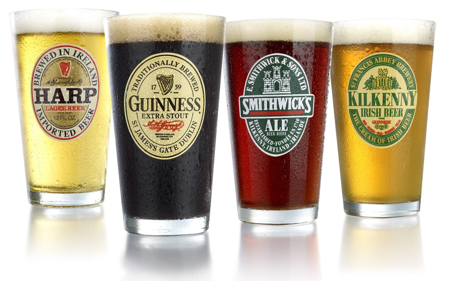 Set of 4 Irish Beer Glasses